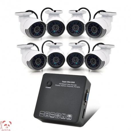 Регистратор NVR 8 каналов с 8 камерами