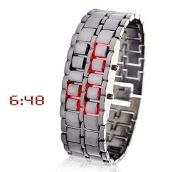 Стильные часы на светодиодах Iron Samurai