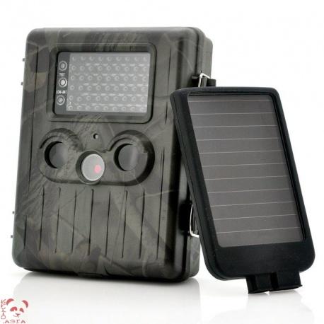 Фотоловушка с солнечной панелью 1080p, GSM, 54IR