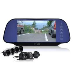 Зеркало 7' с парктроником на 4 датчика и камерой