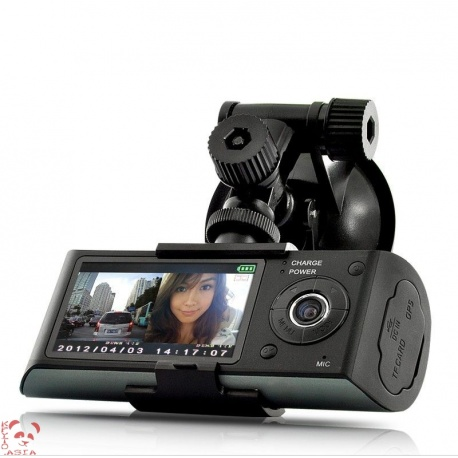Видеорегистратор 2 камеры с GPS и G-сенсором