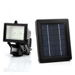 Уличный фонарь с солнечной панелью и сенсором движения