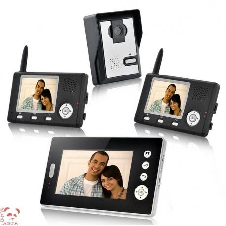 Видеодомофон с 3-мя беспроводными приёмниками