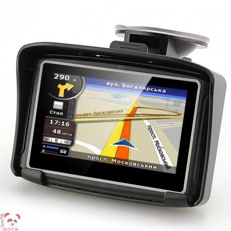 GPS навигатор 4.3' в мотоцикл или авто, Bluetooth, IPX7