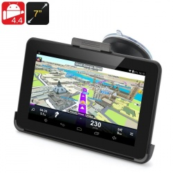 GPS навигатор экран 7', Android 4.4, FM-трансмиттер, Wi-Fi