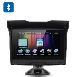5-дюймовый GPS навигатор для мотоцикла - IPX5 водонепроницаемый рейтинг, Bluetooth, 8Гб памяти, слот для Micro SD карты