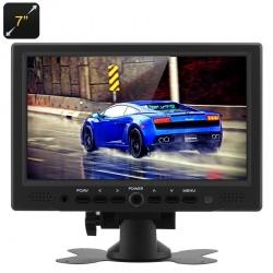 Монитор в авто 7' TFT ЖК 800х480, HDMI, VGA, поворотный стенд