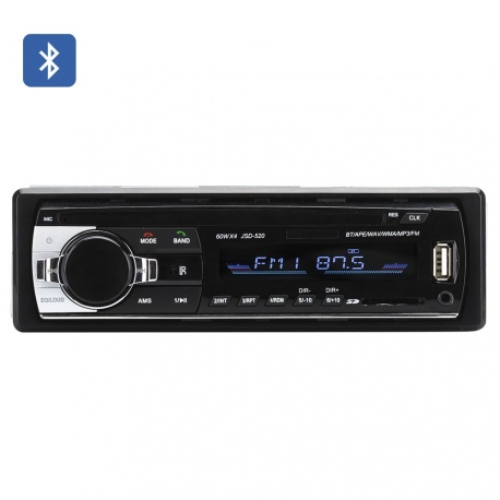 Магнитола 1DIN с Bluetooth, USB, SD, MP3, FM, пульт ДУ