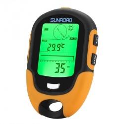 Портативная метеостанция Sunroad FR500 альтиметр - барометр, компас, термометр, гигрометр, фонарик