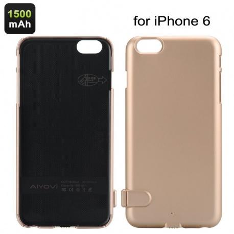 Внешняя батарея чехол для iPhone 6 AIYOVI 1500мАч