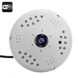 """Камера IP """"рыбий глаз"""" 360 градусов съёмка, 3Мп, 1/2.5' CMOS, Wi-Fi, PoE"""