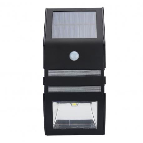 Уличный фонарь с солнечной панелью и сенсором движения, 55 люмен (чёрный)