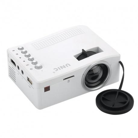 Портативный ЖК проектор UNIC UC18, 320 x 180, 48 люмен, 500:1, HDMI, USB, SD, AV