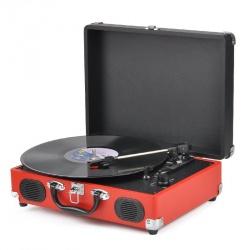 Портативный проигрыватель винила, RCA выход, 33/45 оборотов, запись в MP3
