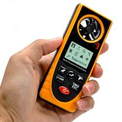 Портативный цифровой анемометр плюс термометр и гигрометр