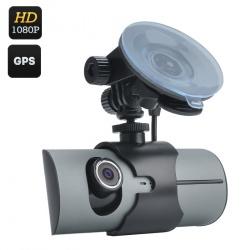 Видеорегистратор с 2-мя камерами, экран 2.7,' GPS лог, G-сенсор, 130 градусов съёмка