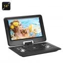 Портативный DVD с экраном 14' 1280x800, FM, ТВ тюнером, USB, SD, игры