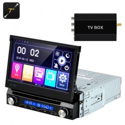 Магнитола 1DIN медиаплеер 7' выдвигающийся экран, Bluetooth, GPS, ТВ тюнер, Win CE 6.0