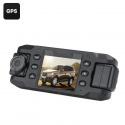 Видеорегистратор Carcam III, 2 поворотные камеры, 140 градусов съёмка, 2' экран, G-сенсор, GPS