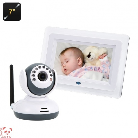 Бэби монитор и IP-камера 7' ЖК беспроводной экран, двусторонняя аудио связь, VOX