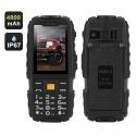Защищённый телефон NO.1 A9 IP67, dual GSM SIM, FM радио, фонарик (чёрный)