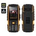 Защищённый телефон NO.1 A9 IP67, dual GSM SIM, FM радио, фонарик (жёлтый)