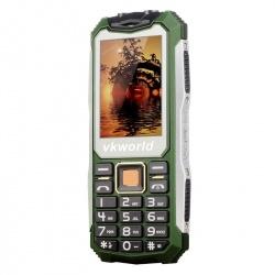 Защищённый телефон VKworld Stone V3S IP65, dual GSM SIM, FM радио, фонарик (зелёный)