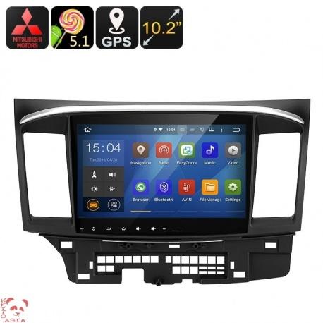 Медиацентр 2Din на Mitsubishi Lancer, экран 10.2', GPS, Андроид