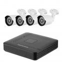 Видеорегистратор AHD 4 канала в комплекте c 4х HD IP66 720P камерами