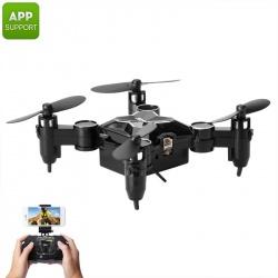 Мини дрон SMAO M1HS, 0.3Мп камера, FPV, App, Wi-Fi, подсветка, 220мАч, 25г (чёрный)
