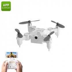 Мини дрон SMAO M1HS, 0.3Мп камера, FPV, App, Wi-Fi, подсветка, 220мАч, 25г (белый)