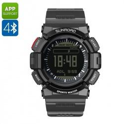 Спортивные часы Sunroad FR9211B шагомер, счётчик калорий, пульсометр, связь со смартфоном