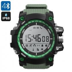 Умные часы для спорта NO.1 F2 с Bluetooth, термометр, шагомер, секундомер (зелёные)