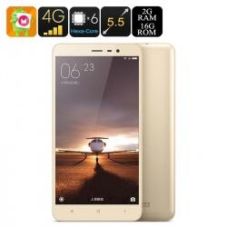 Xiaomi Redmi Note 3 Pro, FHD 5.5', 4G, hexacore, 16Мп камера, батарея 4000мАч, 2Гб/16Гб (золото)
