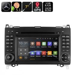 Медиацентр 2Din на Mercedes B200, экран 7', GPS, Андроид, 3G USB