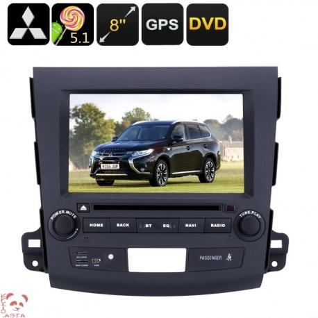 Медиацентр 2Din для Mitsubishi Outlander, экран 8', GPS, Андроид, CAN BUS