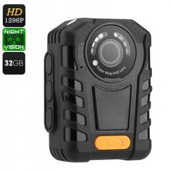 Экшн камера на грудь, защита IP65, 1296p, 140 градусов объектив, 32Гб