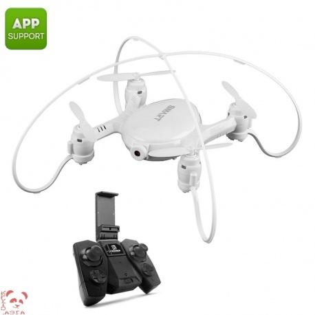 Мини дрон SMAO M7S, 0.3Мп камера, FPV, App, Wi-Fi, подсветка, 380мАч, 38г (белый)