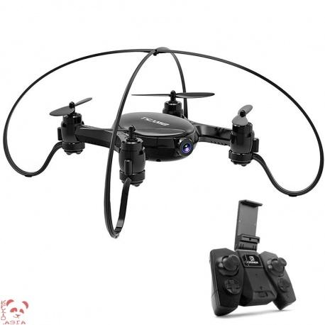 Мини дрон SMAO M7S, 0.3Мп камера, FPV, App, Wi-Fi, подсветка, 380мАч, 38г (чёрный)