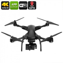 Дрон Simtoo Dragonfly, 4K UHD камера, складной, панорамная съёмка, до 25 мин полёт (чёрный)