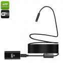 Эндоскоп USB с Wi-Fi, длина 7м, IP67, 720p, 8мм диаметр, 70 градусов угол съёмки