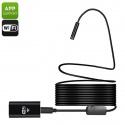 Эндоскоп USB с Wi-Fi, длина 10м, IP67, 720p, 8мм диаметр, 70 градусов угол съёмки