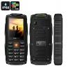 Защищённый телефон VKworld Stone V3 IP67, 3x GSM SIM, FM радио, фонарик (зелёный)