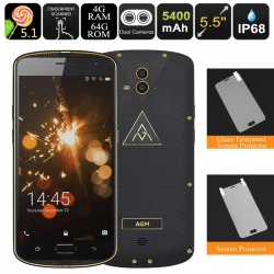 Защищённый AGM X1, 4G, 4Гб/64Гб, IP68, OTG, аккумулятор 5400мАч (золото)