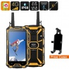 Защищённый смартфон Conquest S8 2017 4G, 5' экран, GPS, компас, рация, 13Мп камера (жёлтый)