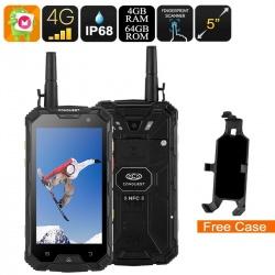Защищённый смартфон Conquest S8 2017 4G, 5' экран, GPS, компас, рация, 13Мп камера (чёрный)