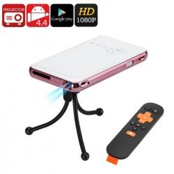 Мини DLP проектор, Андроид, 32Гб, 1080p, 4200мАч батарея, Wi-Fi