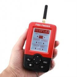 Рыболокатор (эхолот) беспроводной, датчик 90 градусов, экран 2.4 дюйма