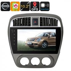 Медиацентр 1Din для моделей Nissan 2008-2011, экран 10.2', GPS, Андроид, CAN BUS
