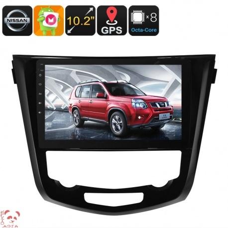 Медиацентр 1Din для моделей Nissan X Trail, экран 10.2', GPS, Андроид, CAN BUS